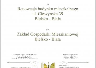 Dyplom 2014 - Cieszyńska 39
