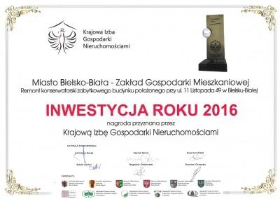 Dyplom 2016 - 11 Listopada 49
