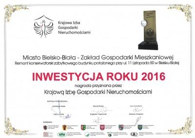 Dyplom 2016 - 11 Listopada 50